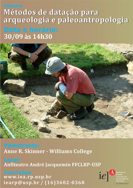 """Palestra """"Métodos de datação para Arqueologia e Paleoantropologia"""", por Anne Skinner. 2013"""