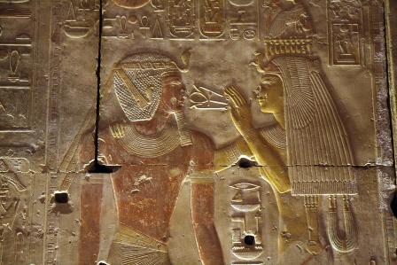 Templo de Seti I em Abidos. Imagem disponível em . Acesso em 05 de agosto de 2013.