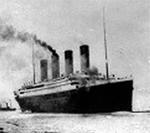 Titanic saindo de Southampton. Fotografia original. 1912.