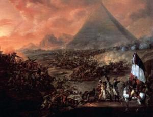 """""""A Batalha das Pirâmides"""". Francois-Louis-Joseph Watteau. 1798-1799."""