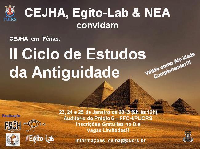 II Ciclo de Estudos da Antiguidade. 2013.