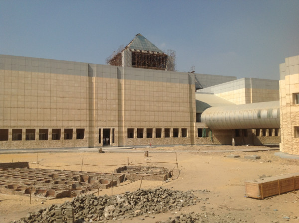 Grand Egyptian Museum. Foto: Neal Spencer. 2013.
